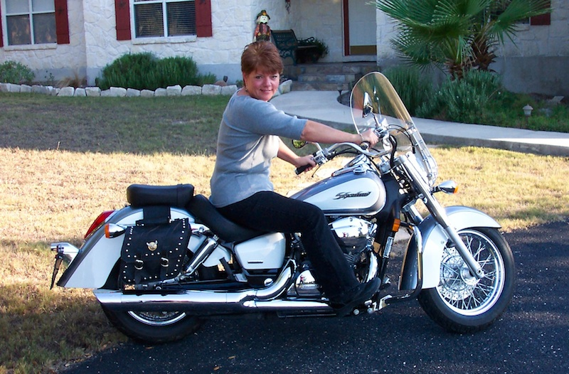 Learning to ride Honda Shadow Aero