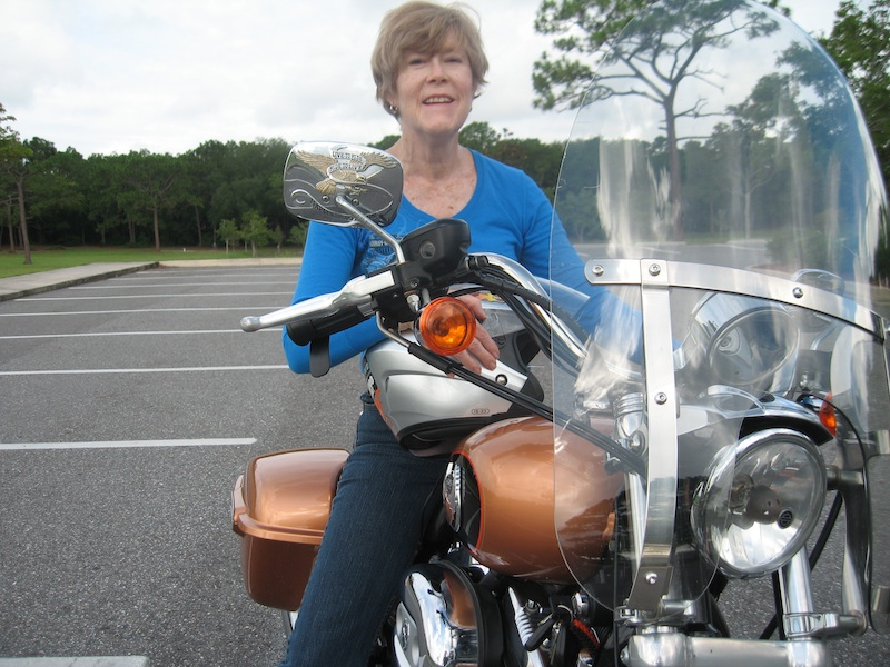 Never too old to ride a motorcycle Pamela Wiker