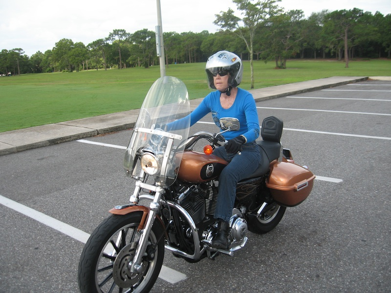 Never too old to ride a motorcycle Sportster 1200L