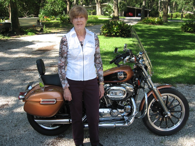Never too old to ride a motorcycle Harley-Davidson Sportster 1200L