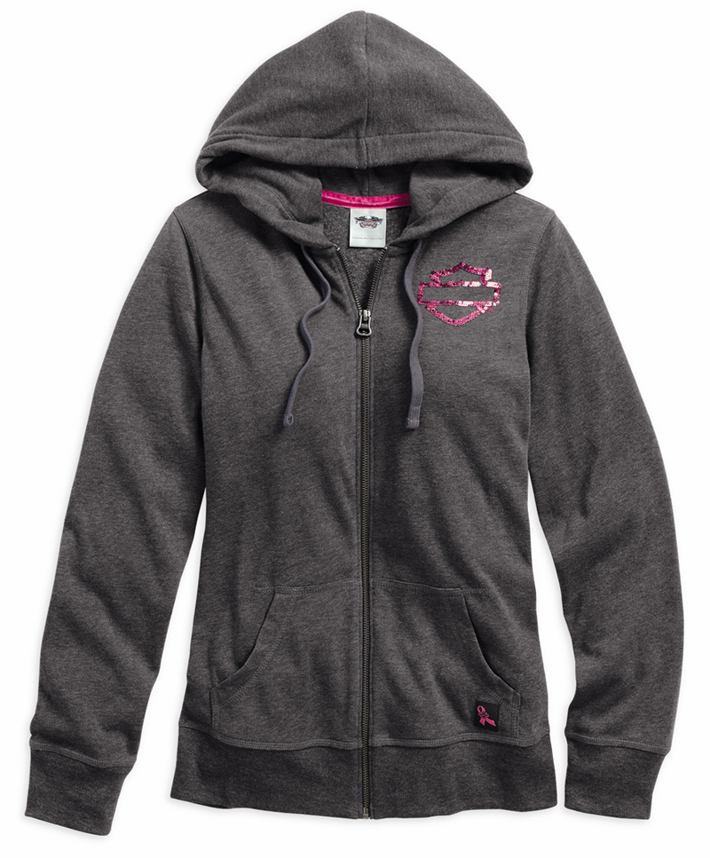 Harley-Davidson Adds New Items to Pink Label Collection hoodie front
