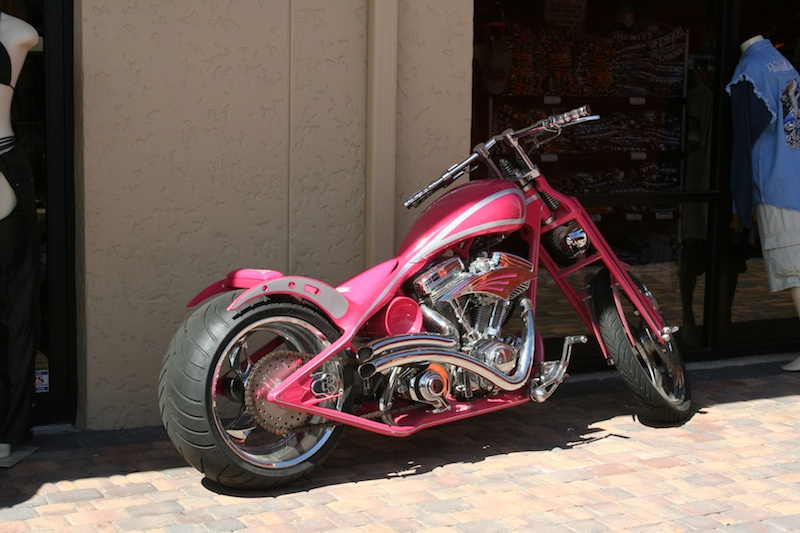 Pink Motorcycles chopper
