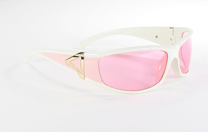 motorcycle sunglasses for women pink lens white frame