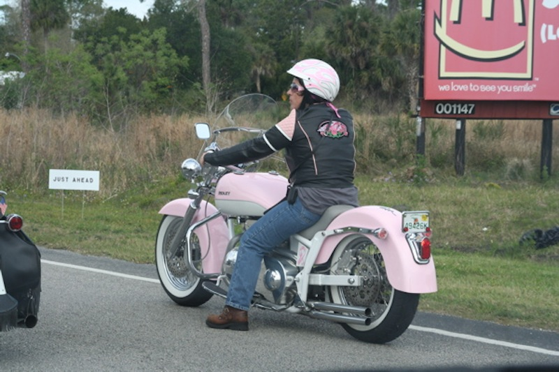 Pink Motorcycles Ridley
