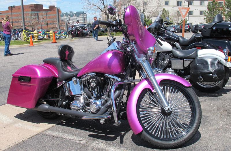 Pink Motorcycles bagger