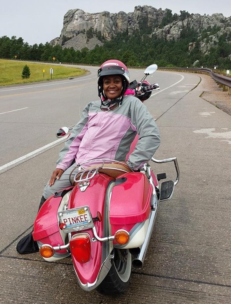pink motorcycles barbara paige v star silverado