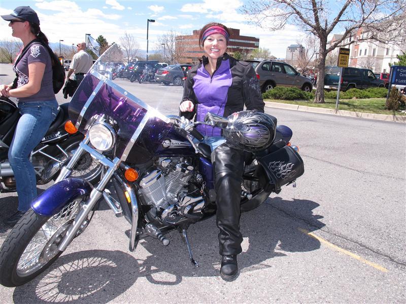 Events Steel Horse Sisterhood Summit purple Honda motorcycle