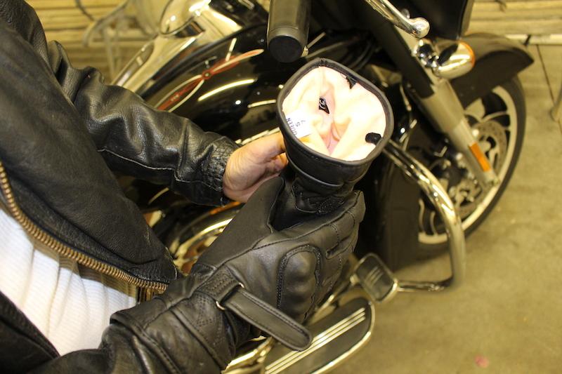 Waterproof Cool Weather Riding Gloves fleece interior