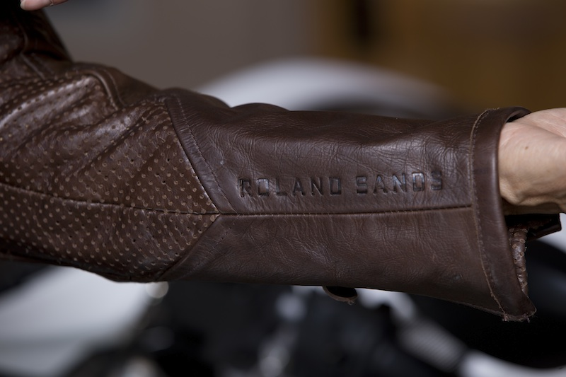 clothing review roland sands design maven leather jacket sleeve