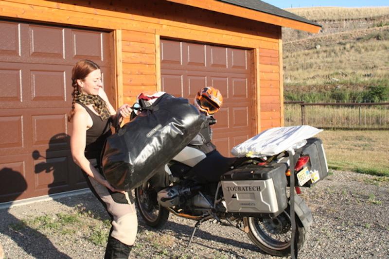 motorcycle trip packing tips waterproof bag