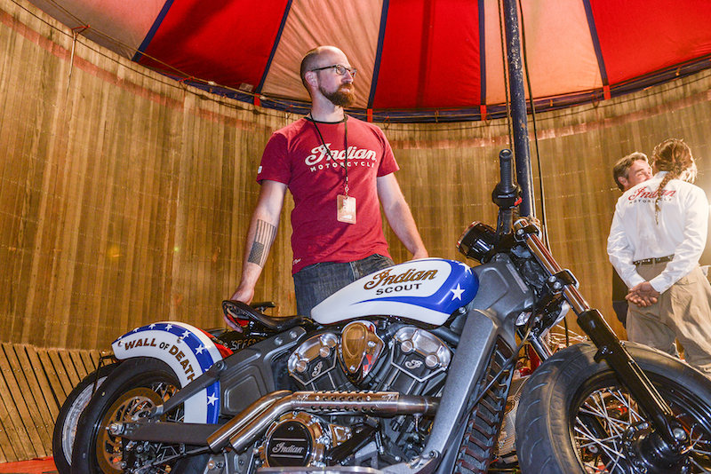 motorcycle review 2015 indian scout wall of death