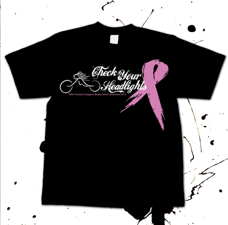 Breast Cancer Awareness Campaign Check Your Headlights Shirt