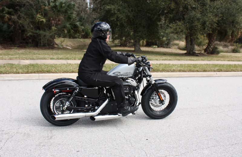 review harley davidson forty eight riding