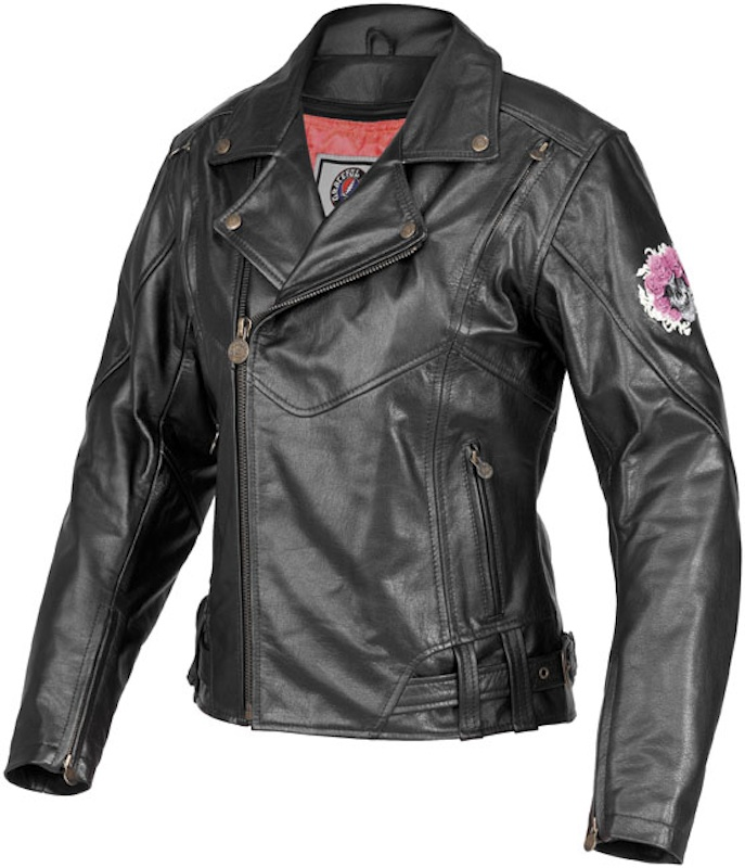 Sexy and Functional Leather Motorcycle Jackets River Road Skull Roses Grateful Dead