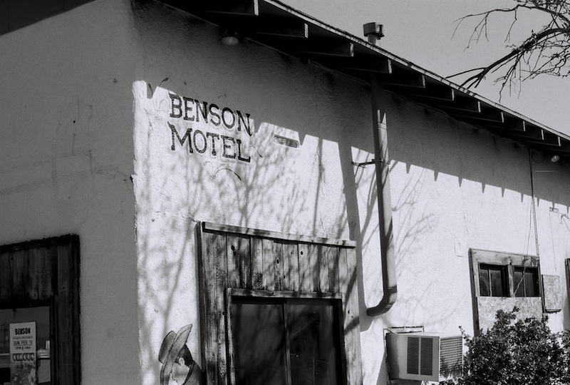 Review Shady Dell Bisbee Arizona Benson Motel black and white