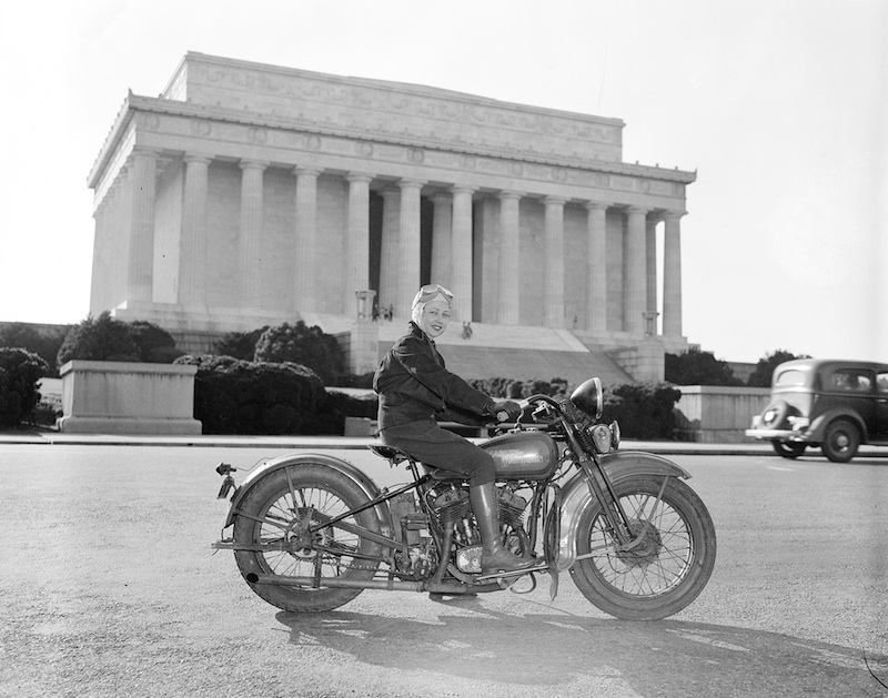 Pioneers the First Woman to get a motorcycle license Sally Robinson
