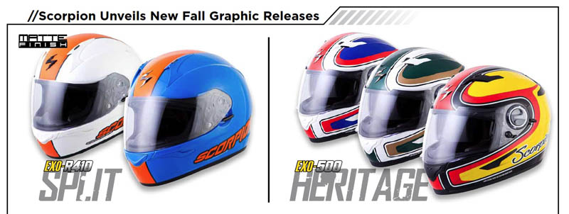 Scorpion Helmets Under $200 New Graphics