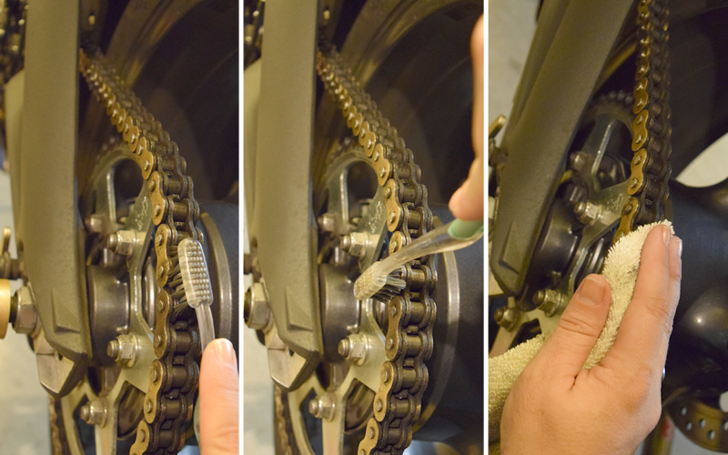 Do It Yourself Final Drive Maintenance Chain Cleaning
