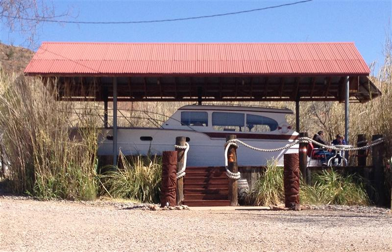 Review Shady Dell Bisbee Arizona chris craft yacht