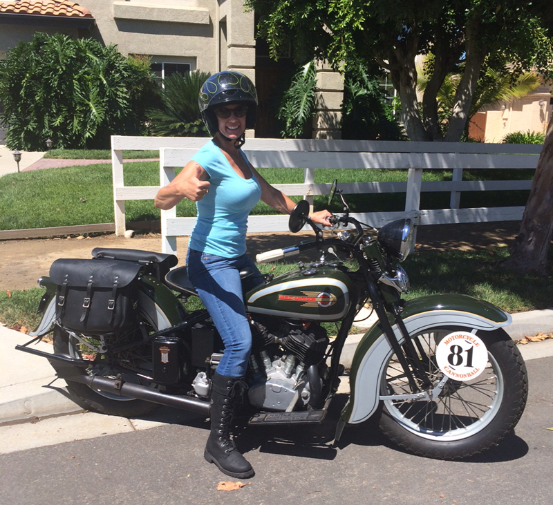 Four Women Compete in Cross-Country Motorcycle Event Sharon Jacobs