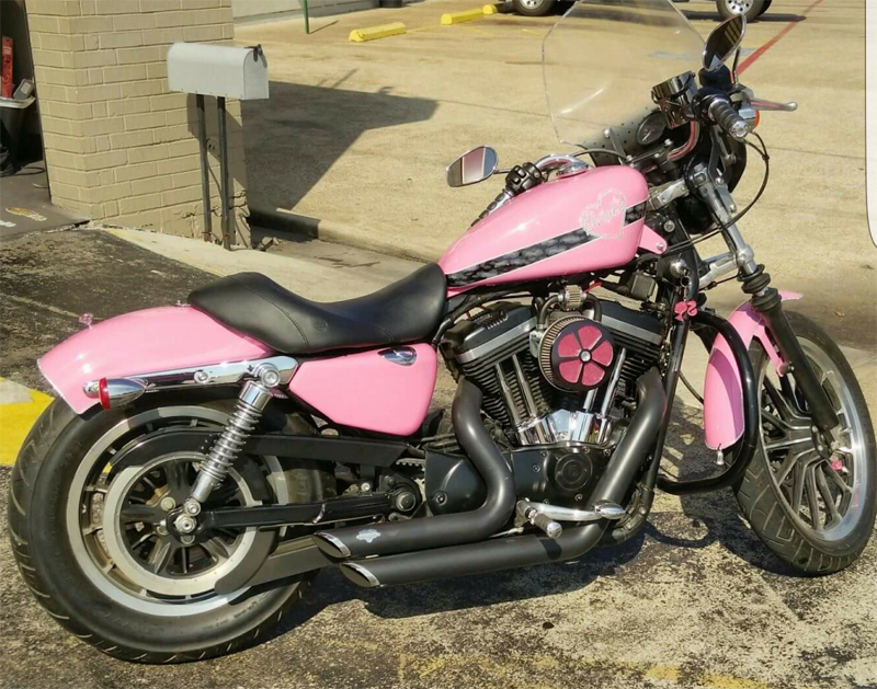 pink motorcycles 2005 Harley Davidson sportster 883