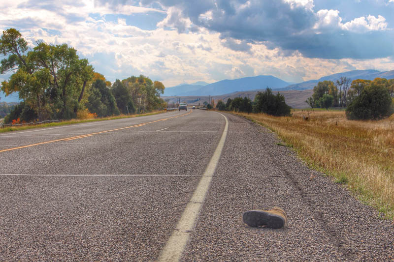 A Shoe on the Side of the Road