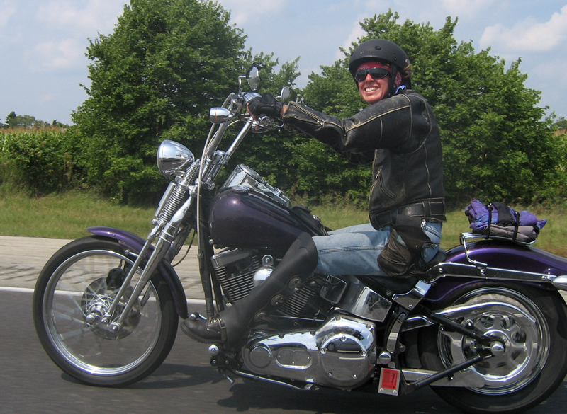 your motorcycles my custom sparkling violet springer softail