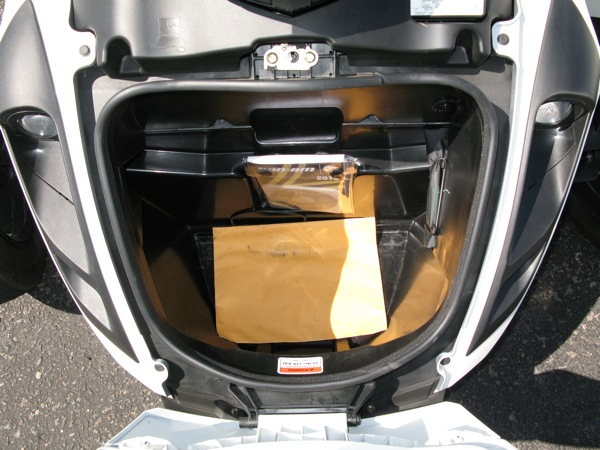 Review Can-Am Spyder RS-S Storage
