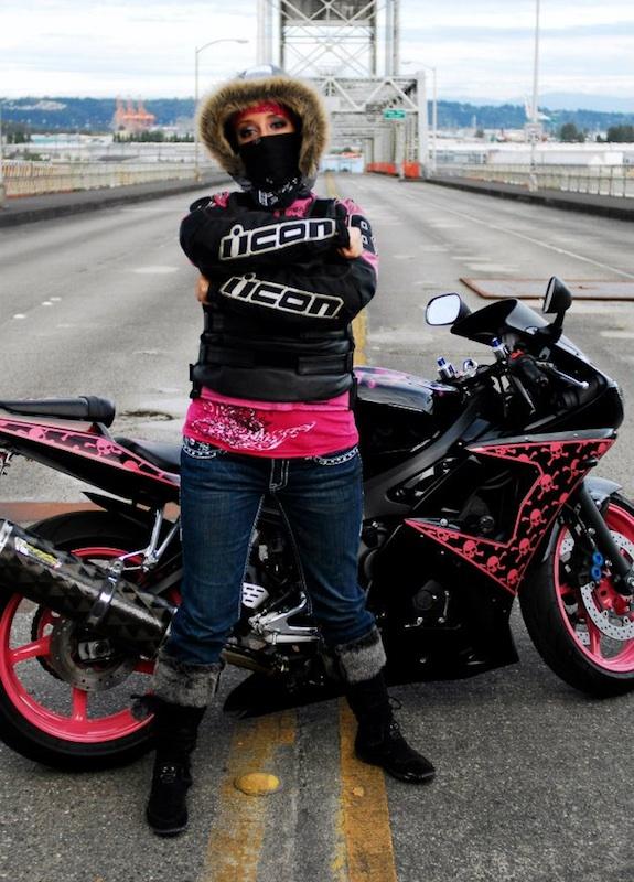 Pink Motorcycles Stephanie Burnett