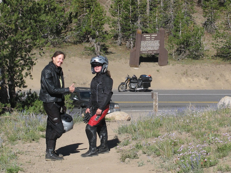Riding Passes of Sierra Nevada Mountains mother daughter