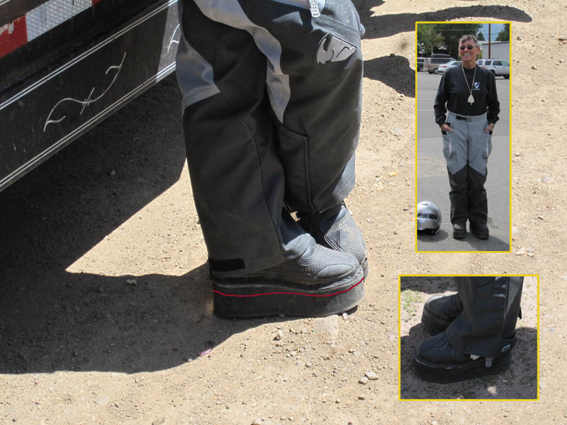 Options for lowering motorcycle seat height Sue Slate