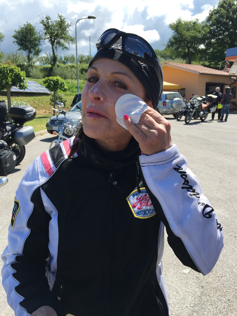summer motorcycle riding safety tips sunscreen swipe
