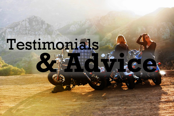 """The best advice comes from those whove """"been there, done that""""—and these ladies have! This section includes advice and encouragement from women riders who dove headfirst into motorcycling and never looked back."""