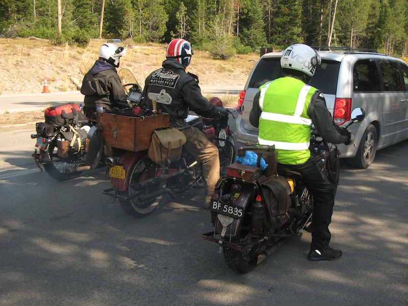 Four Women Compete in Cross-Country Motorcycle Event vintage bikes