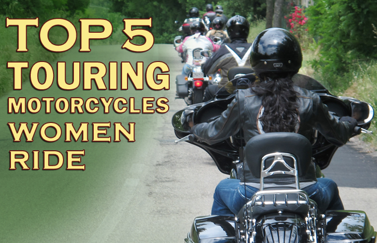 top 5 touring motorcycles women are riding now graphic