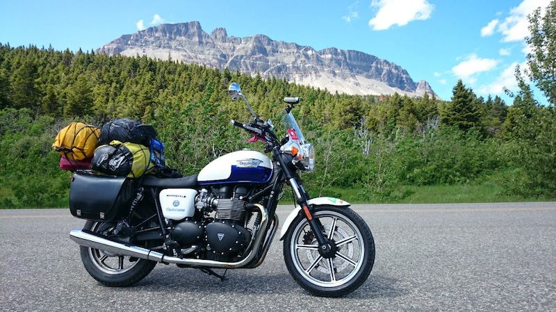 American motorcycle expedition by Polish Triumph Bonneville Paced