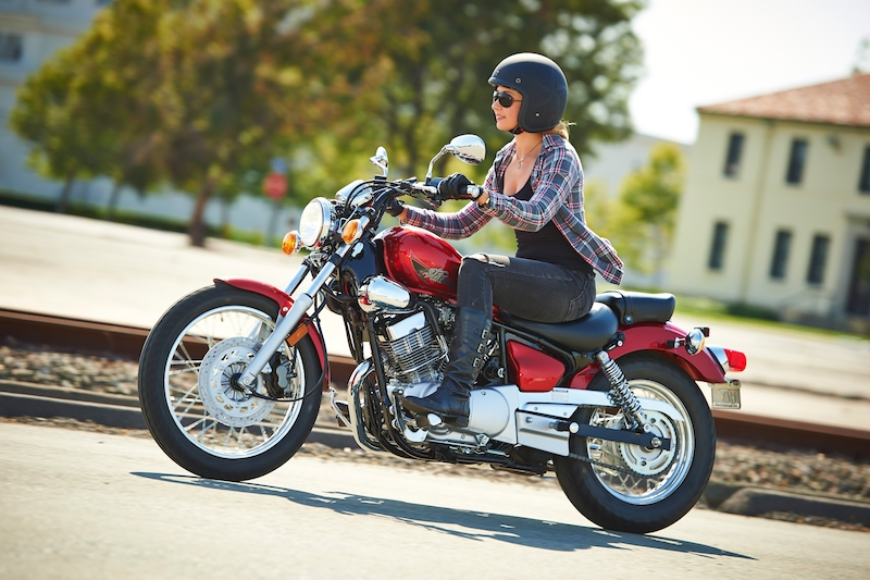 The 2014 Star Motorcycles V Star 250 with a seat height of 27 inches.