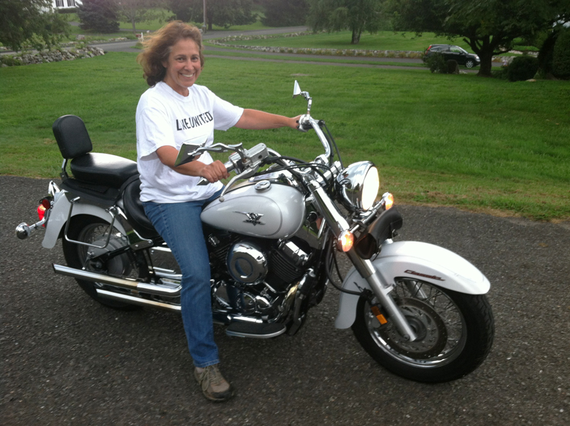 making her dream of riding a motorcycle come true v star 650