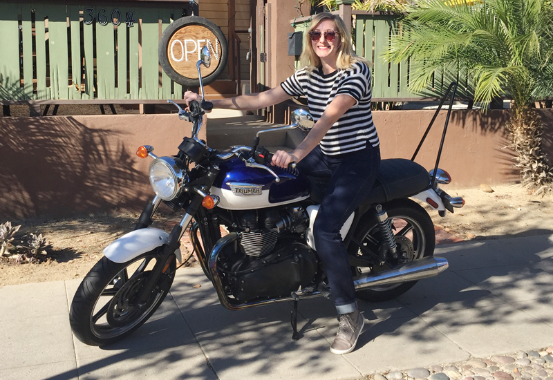 review worse for wear crosstown slim riding jeans for women triumph bonneville