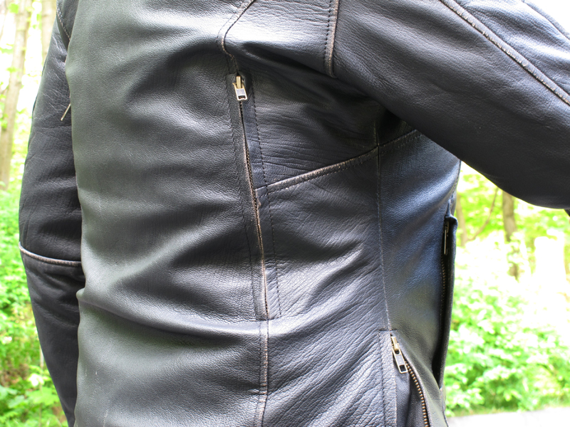 review vintage styled leather womens motorcycle jacket closed vents