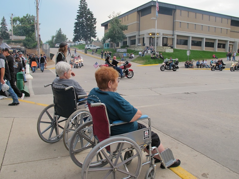74th Annual Sturgis Motorcycle Rally wheelchair