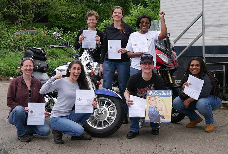 Free Motorcycle Safety Foundation MSF Online Training to New and Returning Riders basic ridercourse women students
