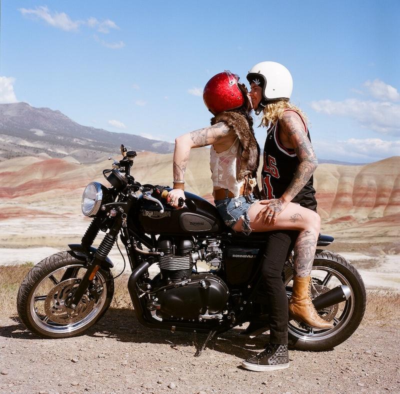 New Generation of Women Riders Couple on Bike