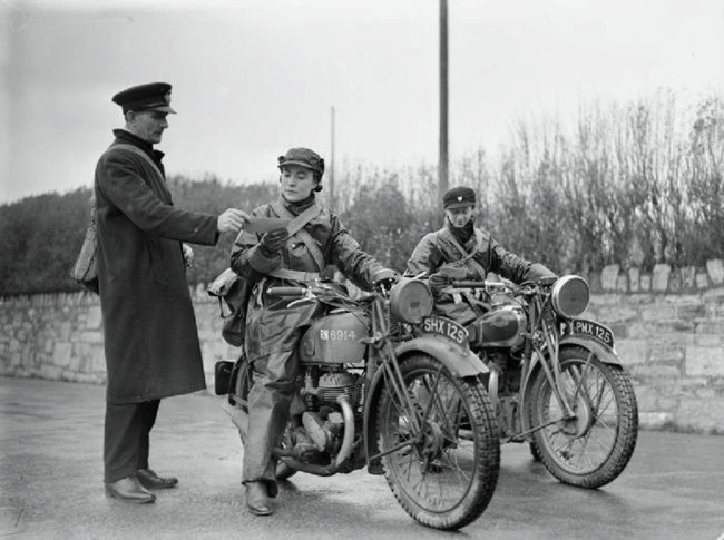 Pioneers Female Dispatch Riders of World War II vintage motorcycles