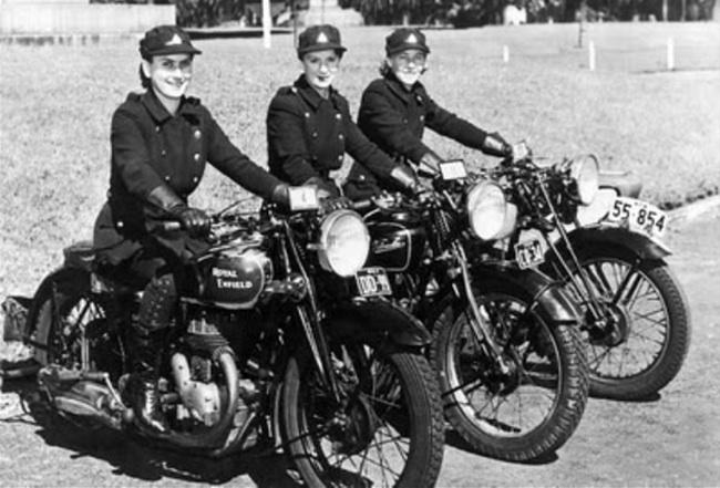 Pioneers Female Dispatch Riders of World War II three women