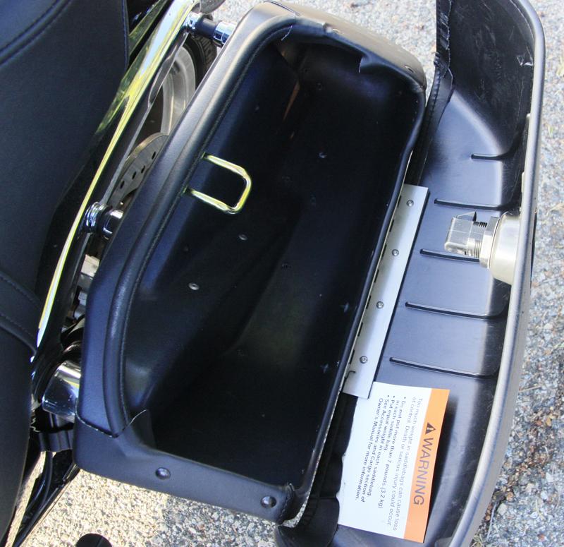 review 2016 harley davidson sportster superlow 1200t open saddlebag