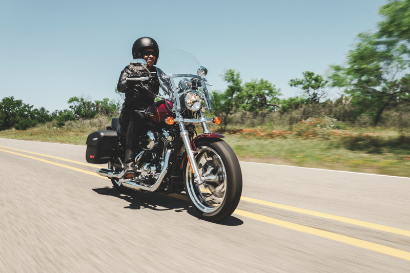review 2016 harley davidson sportster superlow 1200t woman riding