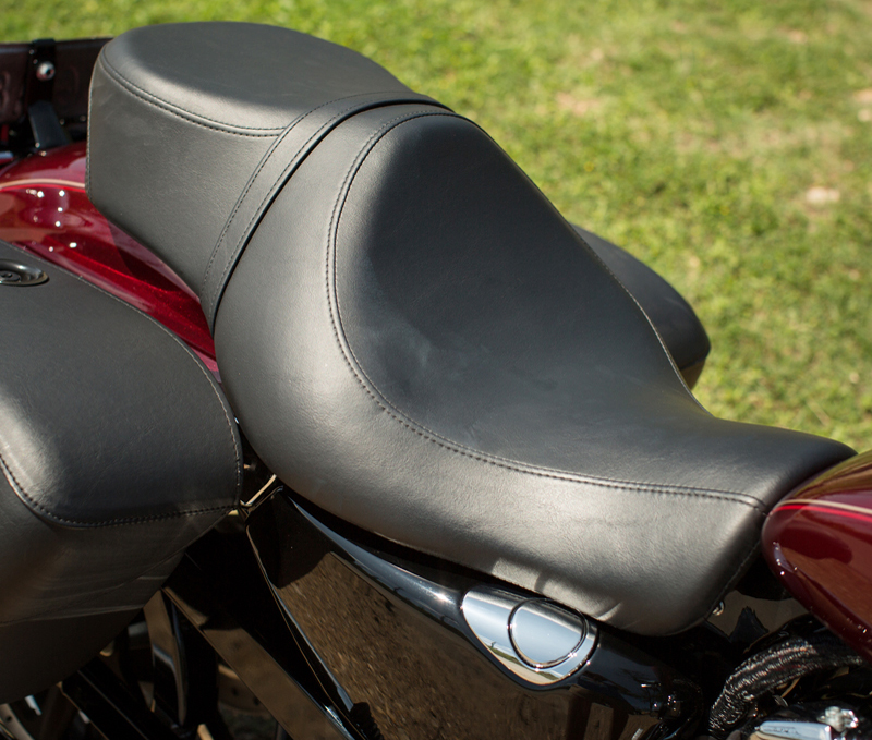 review 2016 harley davidson sportster superlow 1200t seat