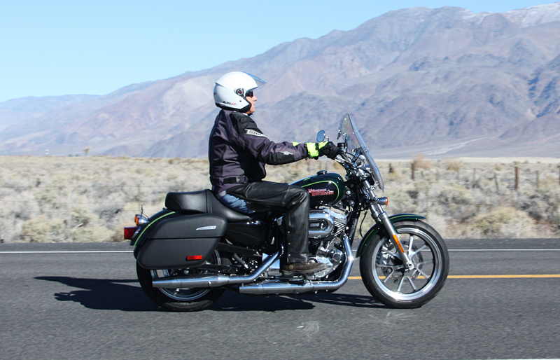 review 2016 harley davidson sportster superlow 1200t man riding