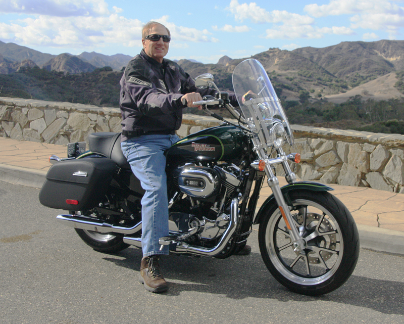review 2016 harley davidson sportster superlow 1200t man seated
